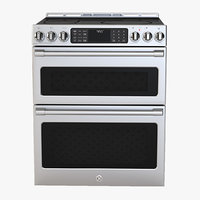 General Electric Cafe Series 30 Slide In Front Control Induction and Convection Double Oven Range