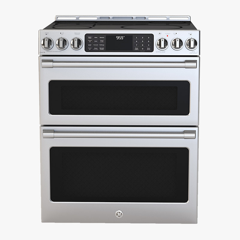 General Electric Cafe Series 30 Slide In Front Control Induction And Convection Double Oven Range Model
