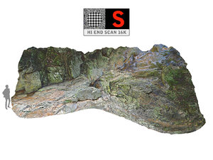 3D jungle rock ground 16k