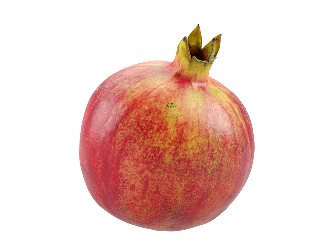 3D model photorealistic scanned pomegranate