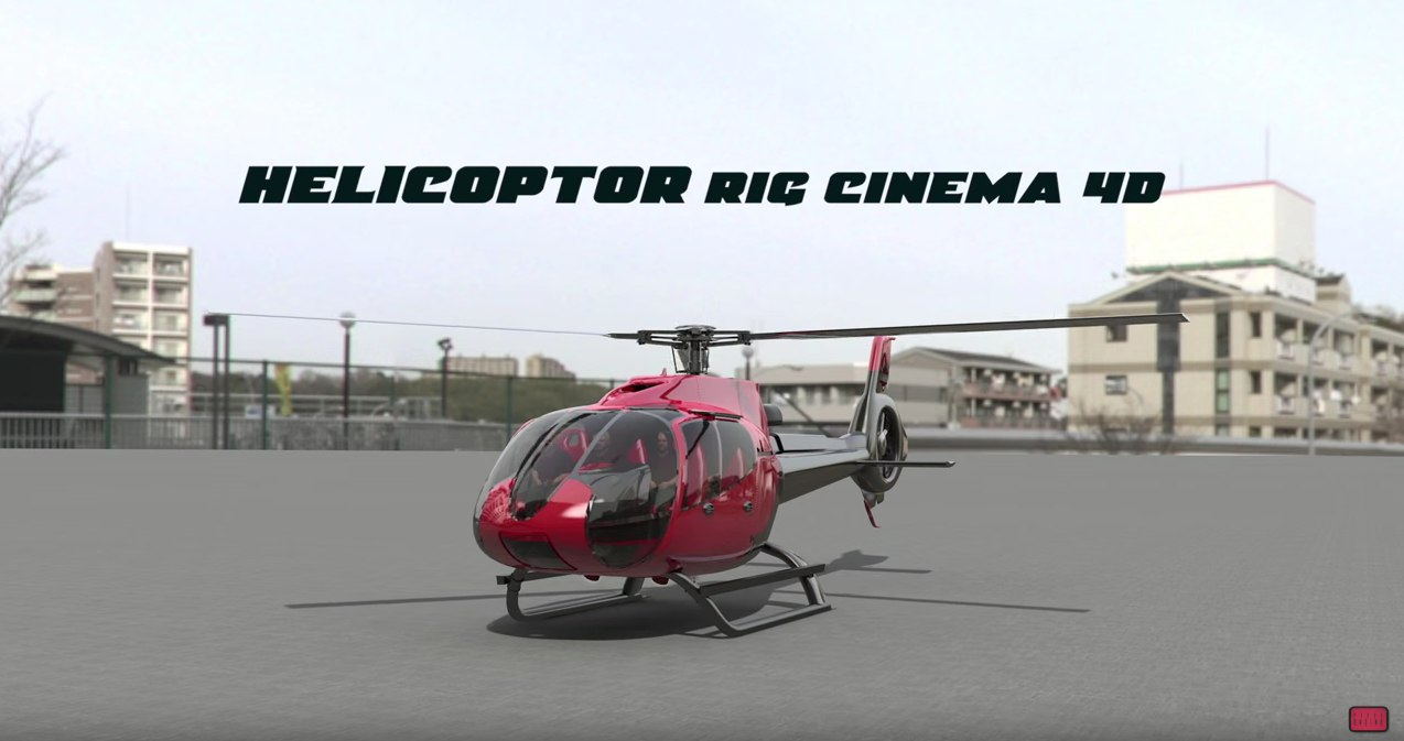 helicopter rigged model