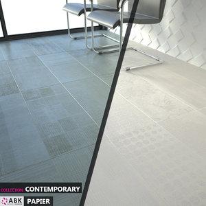 abk contemporary papier cotone 3D model