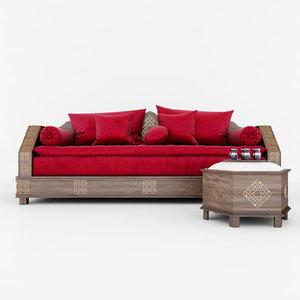 3D sofa moroccan model