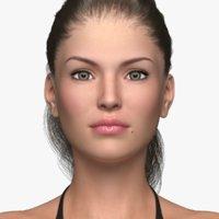 lara 2 5 female hair 3D model