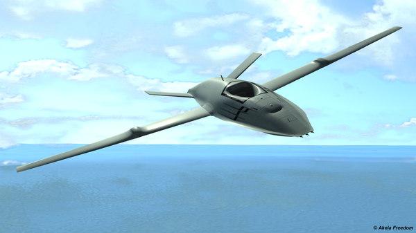 mq-25 stingray v2 0 3D model