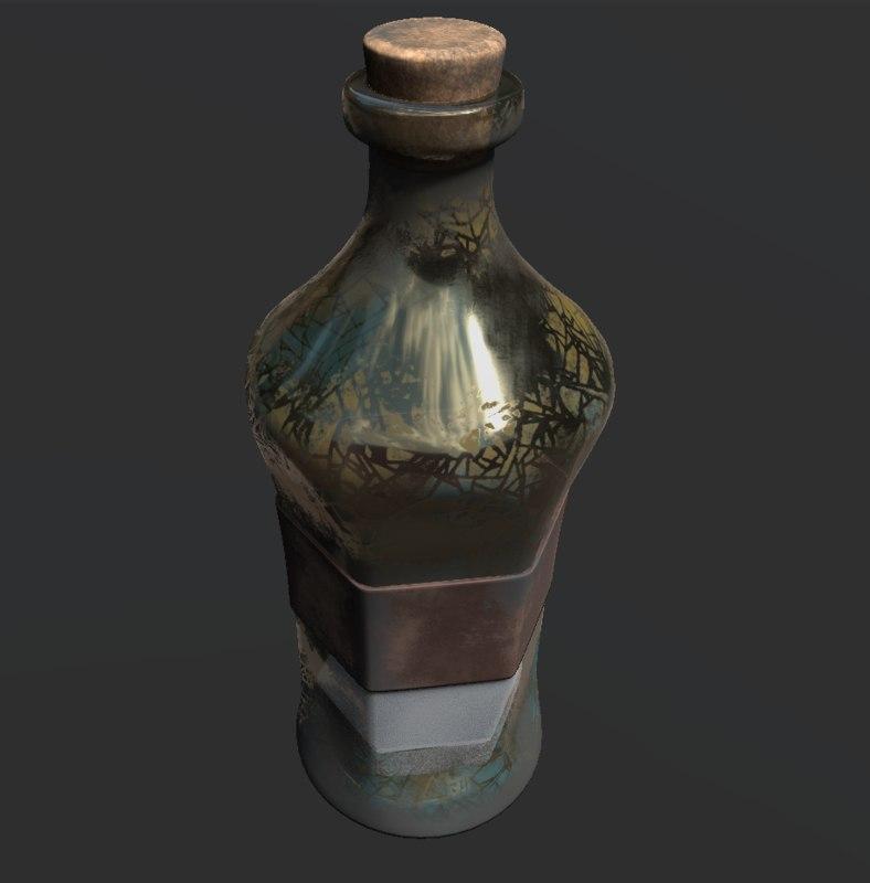 3D bottle substance pbr