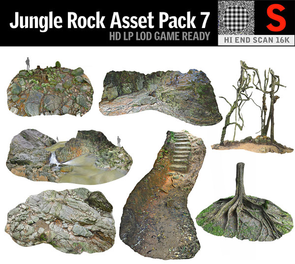 3D jungle asset pack 7 model