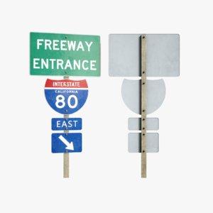 3D lightwave freeway sign