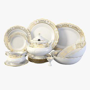 sonata service dish plate 3D model
