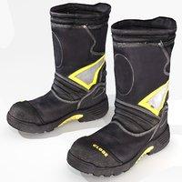 3D model fireman boots