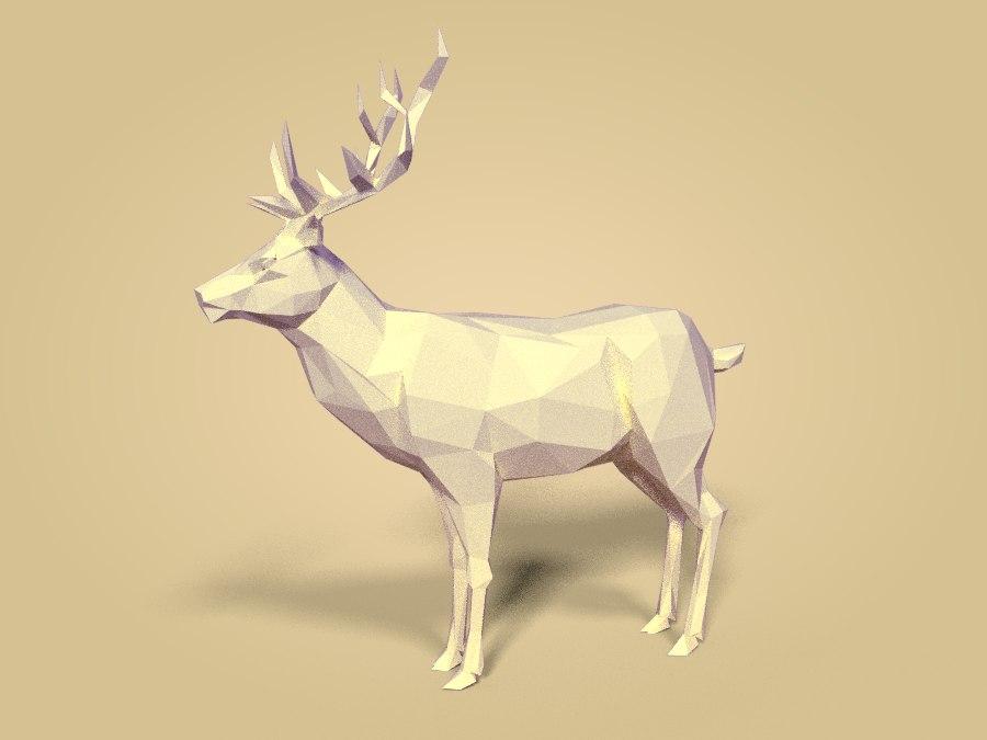 3D deer animal mammal