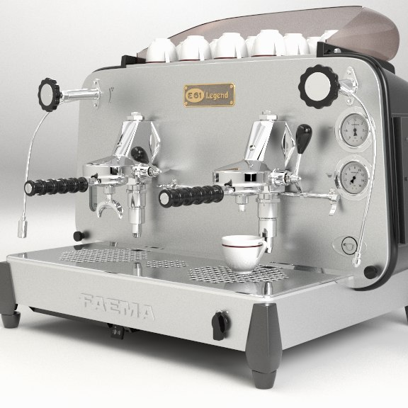 3D italian coffee machine model