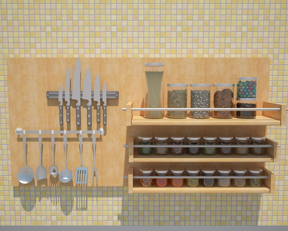 kitchen elements 3D model