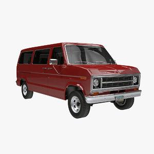 econoline 1975 minivan 3D model