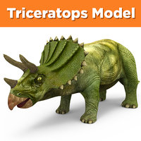 3D triceratops ready