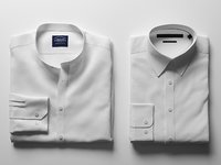 folded white shirts 3D