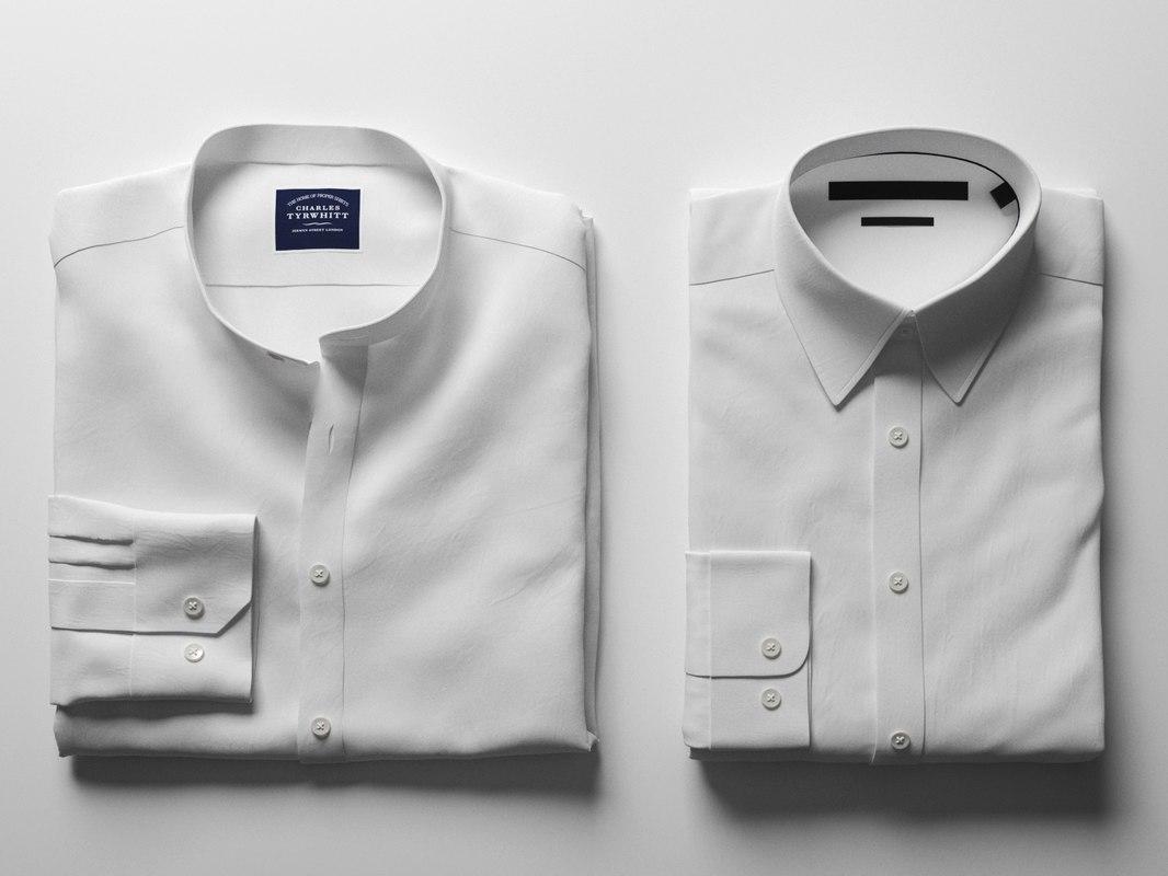 folded white shirts 3D