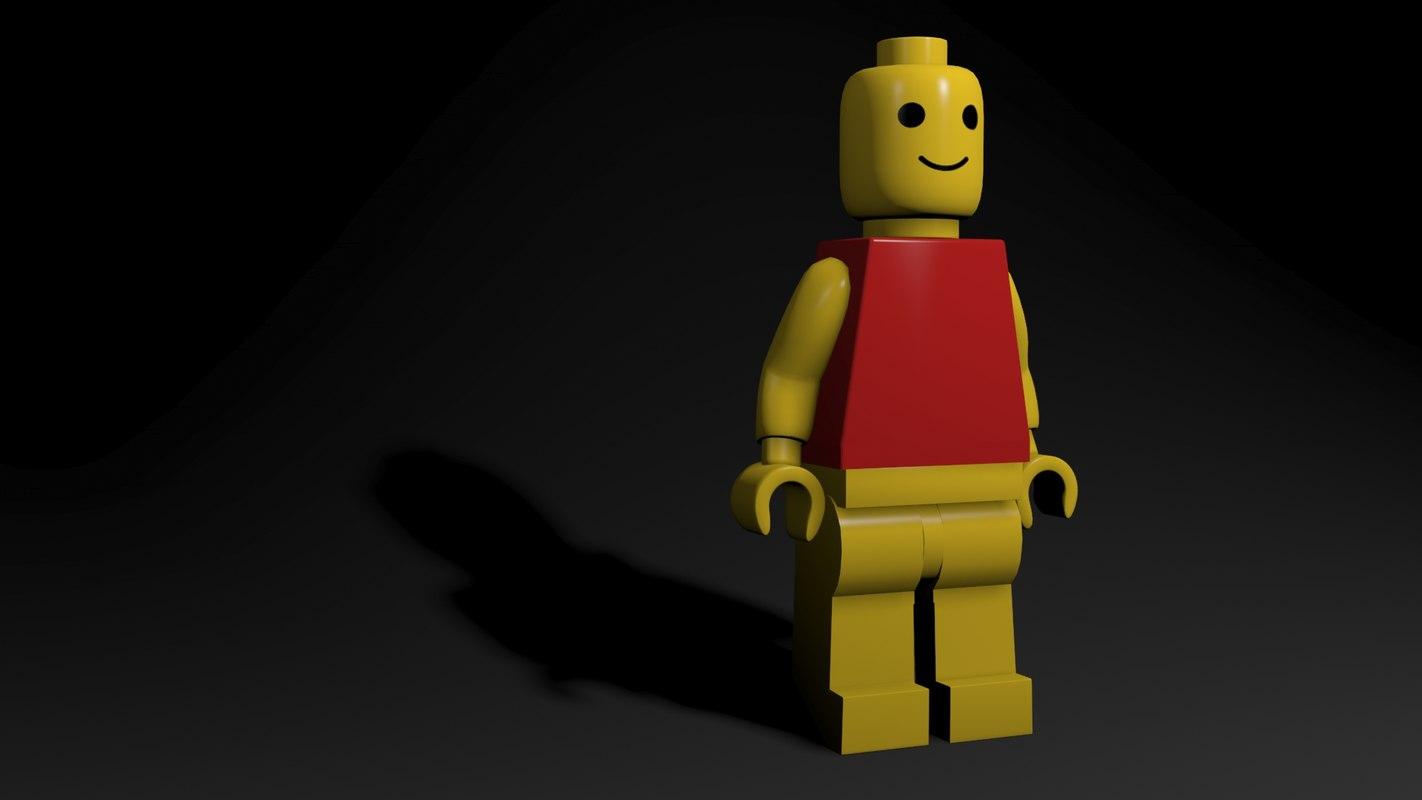 legoman lego man 3D model