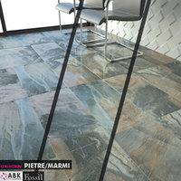 3D decoration floor tiles model