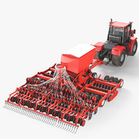 tractor seed drill 3D