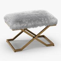 3D model wool farran faux fur