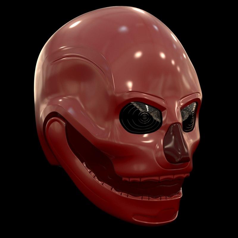 skull helmet model