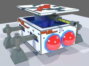 3D sci fi sentry bot