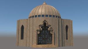 dome architecture 3D model