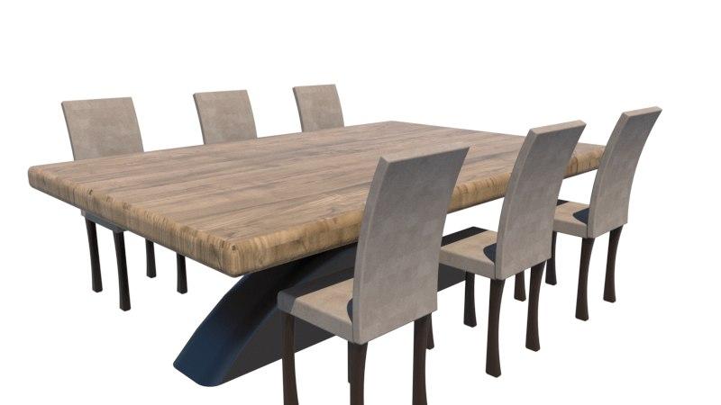 Mesa de comedor moderna con sillas
