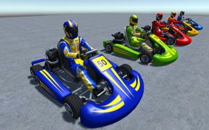 vehicle player kart 3D