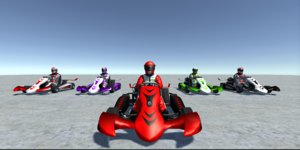 vehicle player kart 3 3D model