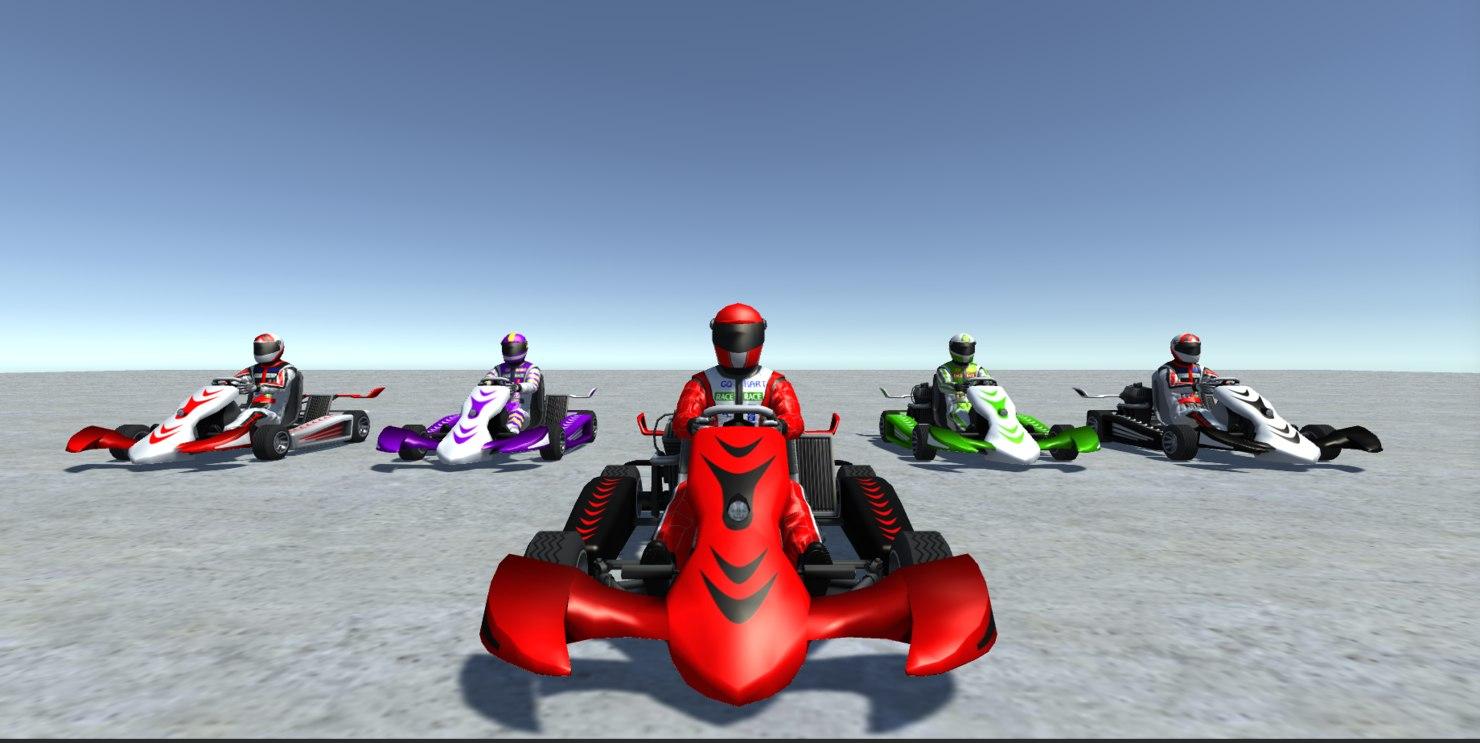 vehicle player kart 3 3D model