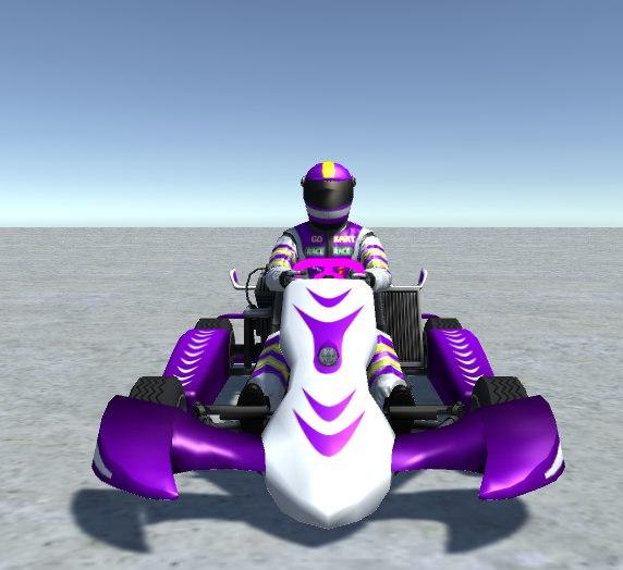 3D - vehicle player kart model