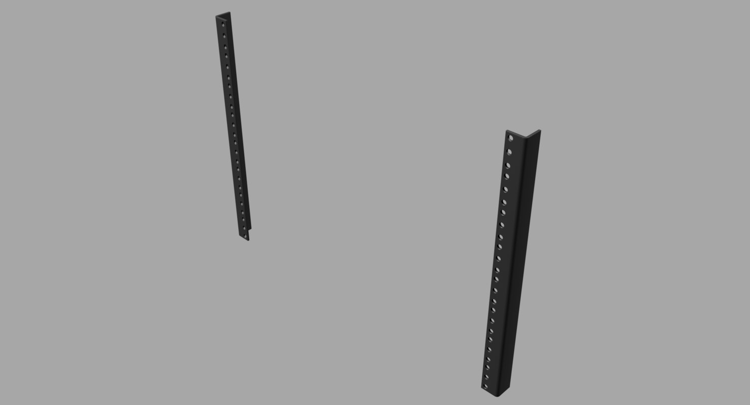 3D 19-inch rackmount rails racks