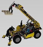 lego construction machine model