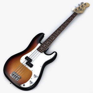 fender precision bass 3D model