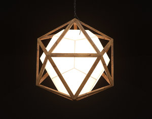 icosa chandelier hanging light 3D