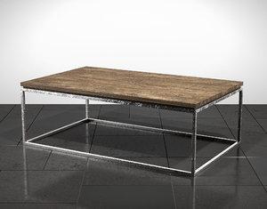 3D linea cocktail table