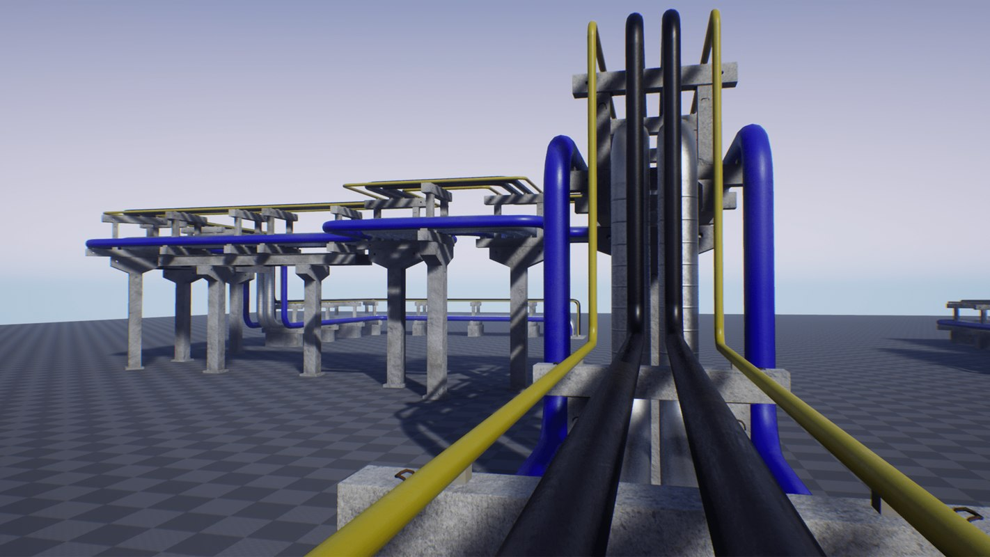 pbr pipes modularity 3D model