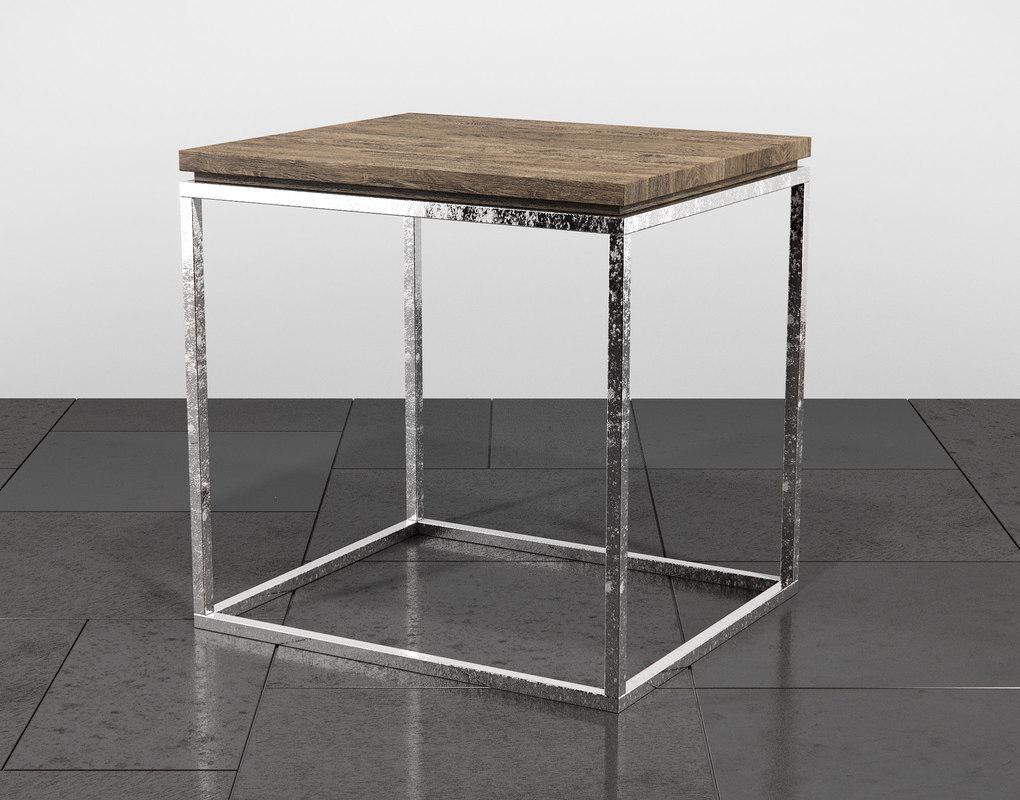 3D linea end table model