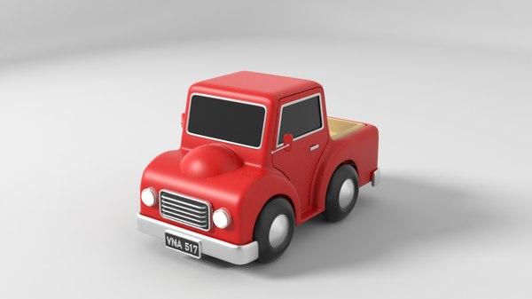 cartoon car red 3D