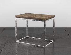 linea chairside table 3D model