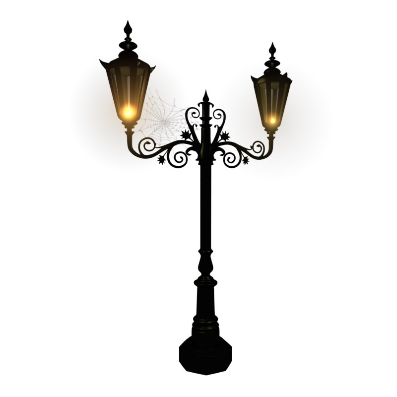 ornamental street lamp 3D model