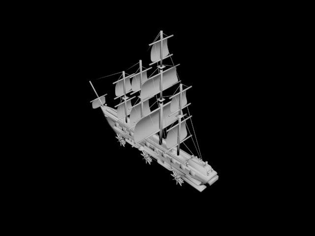 3D sailing ship model