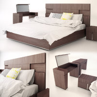 bedroom bed furniture 3D model