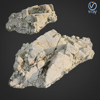 3D scanned rock cliff g2 model
