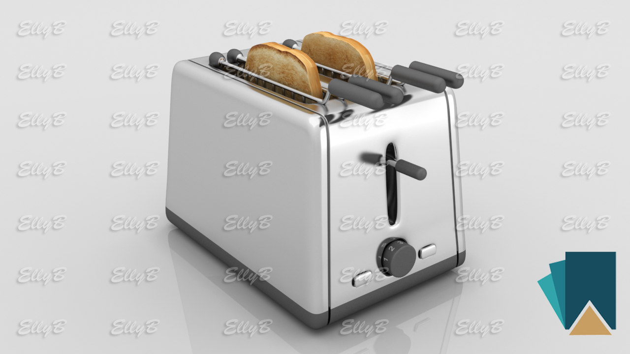 3D model bread toaster kenwood