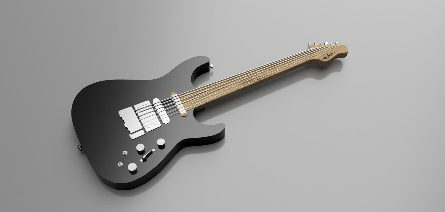 3D jackson guitar model