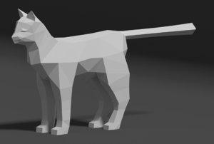 3D cat animal mammal