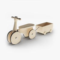 wooden ride 3D model